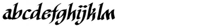 Cyrano BB Italic Font LOWERCASE