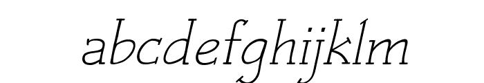 Czaristite Oblique Font LOWERCASE