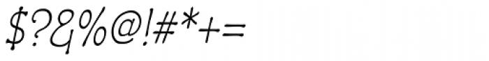 Czaristane Condensed Oblique Font OTHER CHARS
