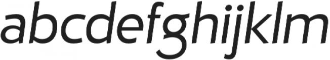D Hanna Regular Italic otf (400) Font LOWERCASE