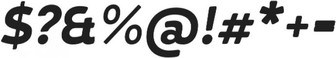 D Hanna Soft Black Italic otf (900) Font OTHER CHARS