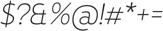 D Hanna Soft Extra Light Italic otf (200) Font OTHER CHARS