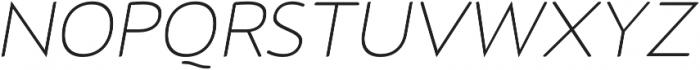 D Hanna Soft Extra Light Italic otf (200) Font UPPERCASE