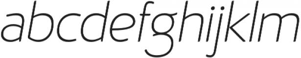 D Hanna Soft Extra Light Italic otf (200) Font LOWERCASE