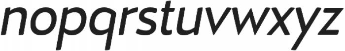 D Hanna Soft Regular Italic otf (400) Font LOWERCASE