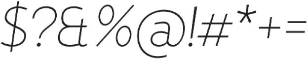 D Hanna Thin Italic otf (100) Font OTHER CHARS
