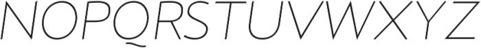 D Hanna Thin Italic otf (100) Font UPPERCASE