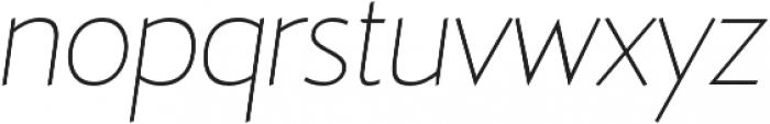 D Hanna Thin Italic otf (100) Font LOWERCASE