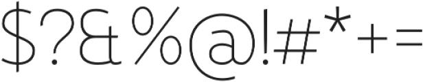 D Hanna Thin otf (100) Font OTHER CHARS