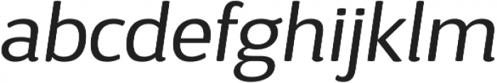 D Sari Book Italic otf (400) Font LOWERCASE