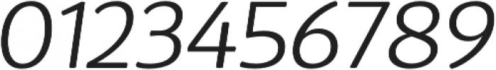 D Sari Light Italic otf (300) Font OTHER CHARS