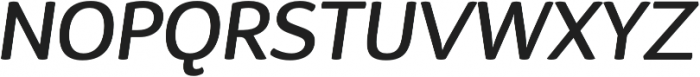 D Sari Medium Italic otf (500) Font UPPERCASE