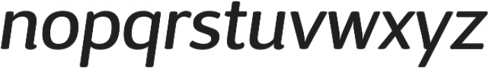 D Sari Medium Italic otf (500) Font LOWERCASE