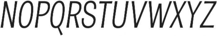 D Sert Regular Italic otf (400) Font UPPERCASE