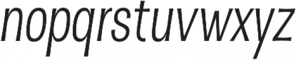 D Sert Regular Italic otf (400) Font LOWERCASE