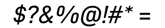 D-DIN Exp Italic Font OTHER CHARS