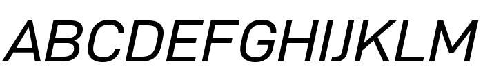 D-DIN Exp Italic Font UPPERCASE