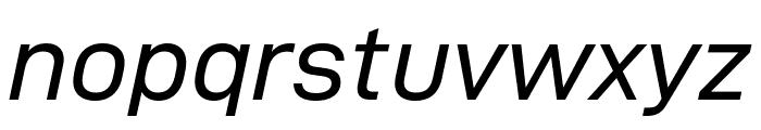 D-DIN Exp Italic Font LOWERCASE