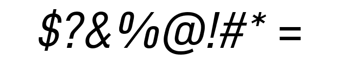 D-DIN Italic Font OTHER CHARS
