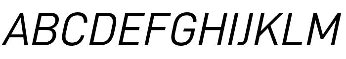 D-DIN Italic Font UPPERCASE