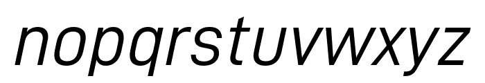 D-DIN Italic Font LOWERCASE