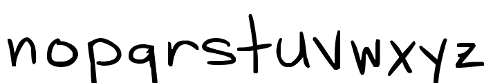 D*H Hand Scribblies Font LOWERCASE
