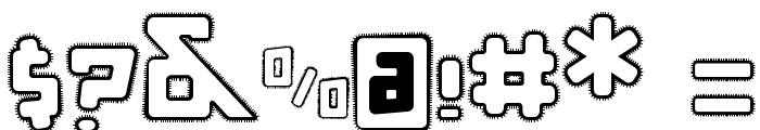 d puntillas [a] Lace Font OTHER CHARS