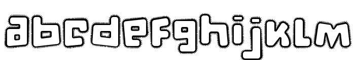 d puntillas [a] Lace Font LOWERCASE