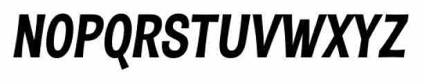 D Sert Black Italic Font UPPERCASE