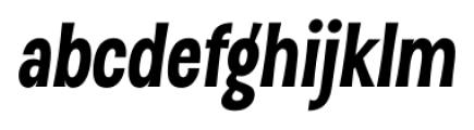 D Sert Black Italic Font LOWERCASE