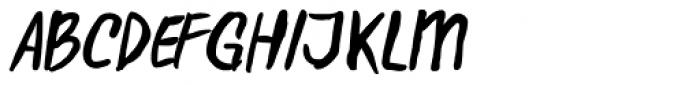 D.I.Y. Time Brush Font UPPERCASE