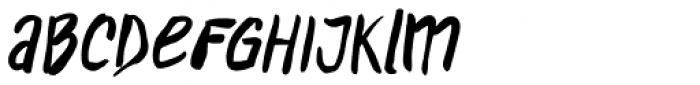 D.I.Y. Time Brush Font LOWERCASE