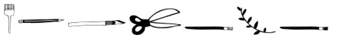 D.I.Y. Time Dingbats Font UPPERCASE