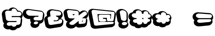 D3 Capsulism Alphabet Font OTHER CHARS