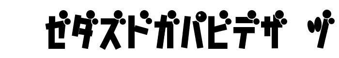 D3 Caramelism Katakana Bold Font UPPERCASE