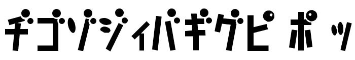 D3 Caramelism Katakana Font UPPERCASE