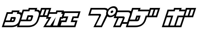 D3 Cosmism Katakana Oblique Font OTHER CHARS