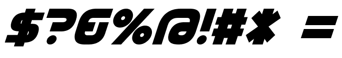D3 Cozmism Oblique Font OTHER CHARS