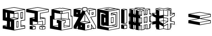 D3 Cubism Font OTHER CHARS