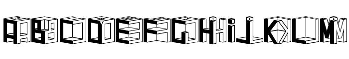 D3 Cubism Font UPPERCASE