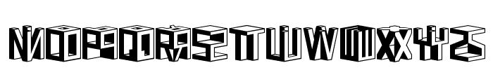 D3 Cubism Font LOWERCASE