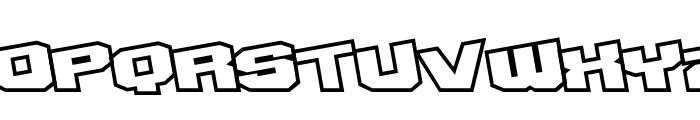 D3 Egoistism outline extra Font UPPERCASE