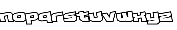 D3 Egoistism outline extra Font LOWERCASE