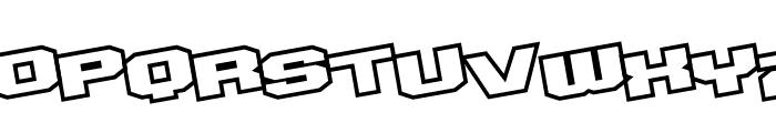 D3 Egoistism outline leaning Font UPPERCASE