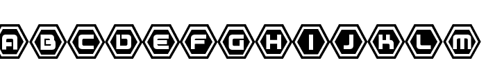 D3 Honeycombism Sorround Font UPPERCASE