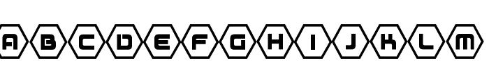 D3 Honeycombism Font UPPERCASE