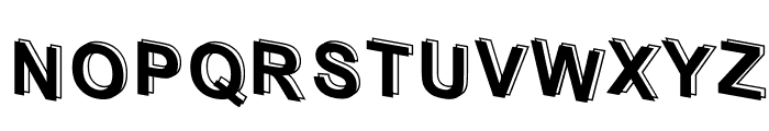 D3 Parallelism Font UPPERCASE