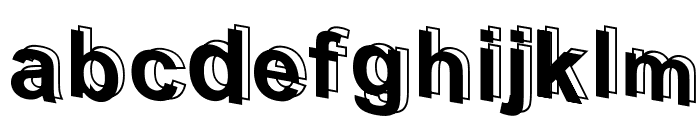D3 Parallelism Font LOWERCASE