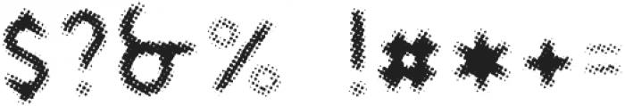 DAKAR Halftone ttf (400) Font OTHER CHARS