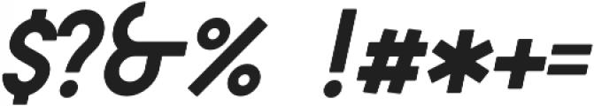 DAKAR Italic otf (400) Font OTHER CHARS